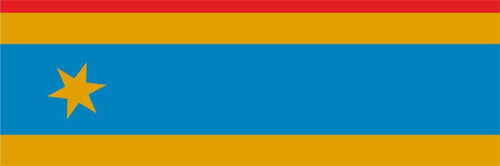 Flaga Gminy Wilków układ poziomy