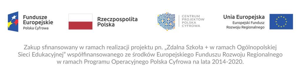 Baner projektu Zdalna Szkoła - Centrum Projektów Polska Cyfrowa