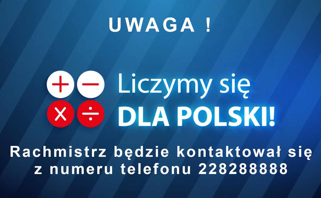 Rachmistrz będzie kontaktował się z numeru 228288888