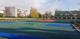 Widok nowego boiska sportowego wielofunkcyjnego przy szkole podstawowej w Idzikowicach.